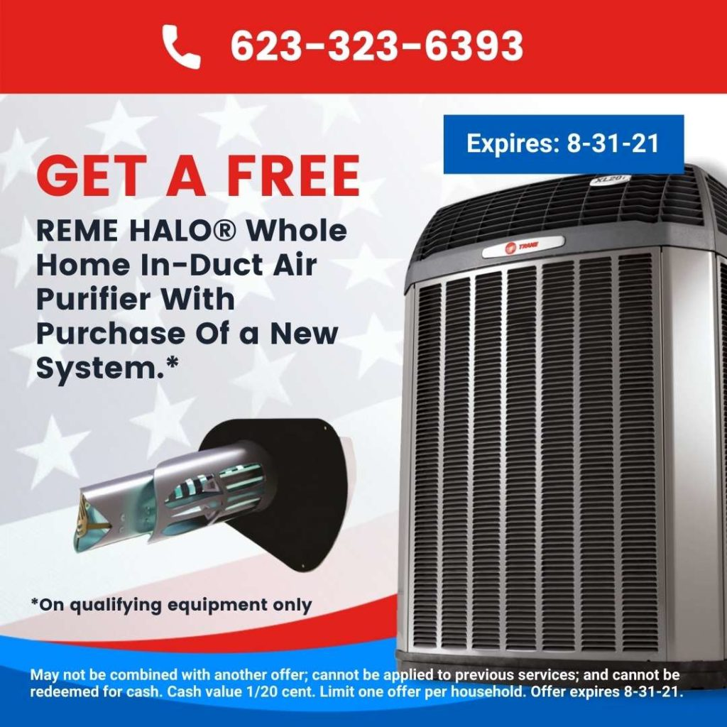 Get a Free Reme Halo Whole Home Air Purifier With Purchase Of A New AC System