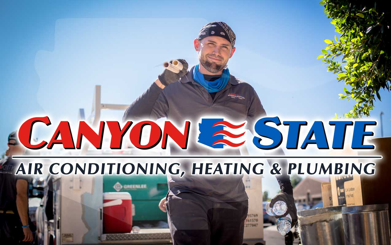 top heating service technician in phoenix metropolitan area from canyon state hvac kyle carrying waters and tools for job in peoria by prefocus solutions